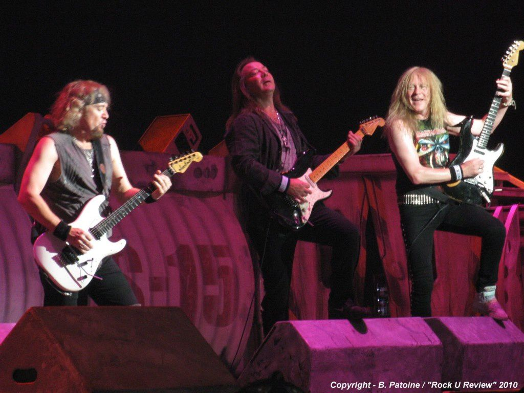 Adrian Smith, Dave Murray and Janick Gers, Iron Maiden (2010)