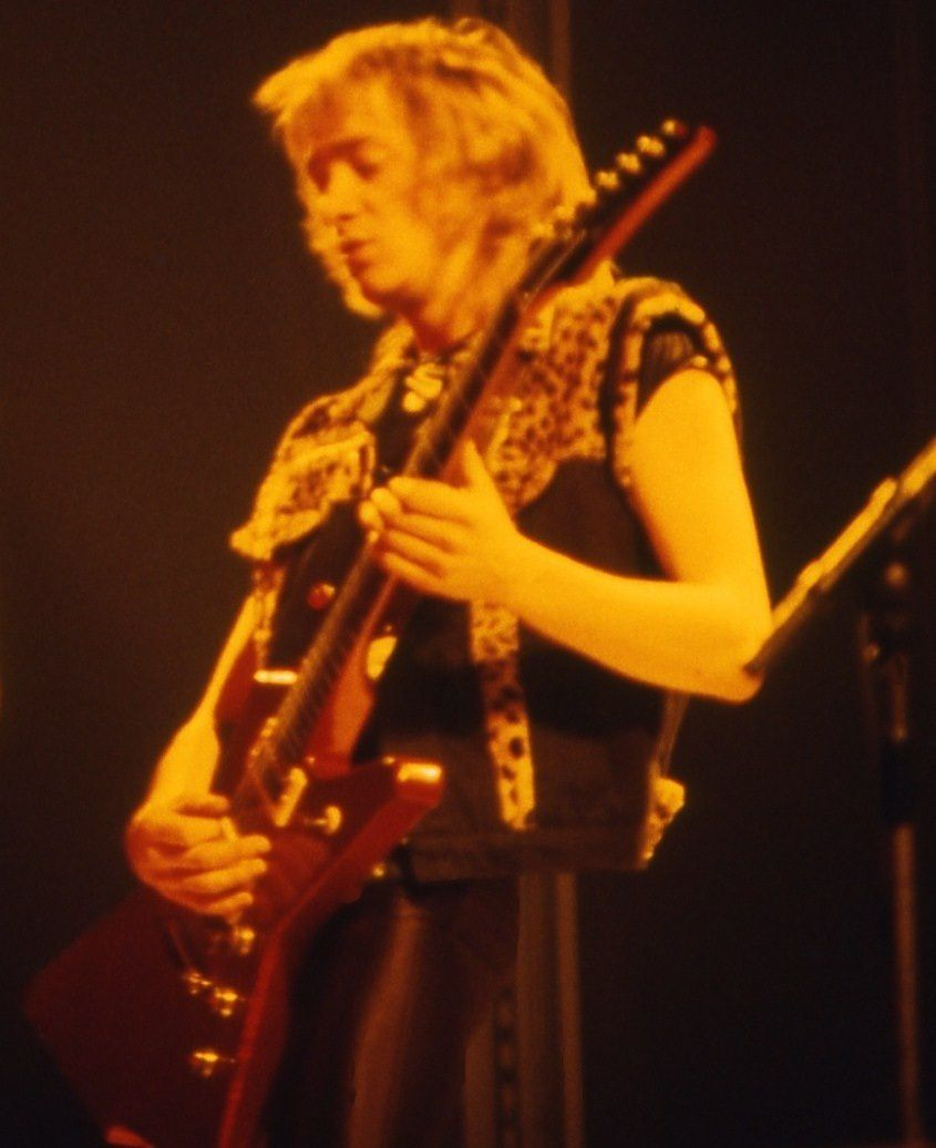 Adrian Smith on stage (1982)