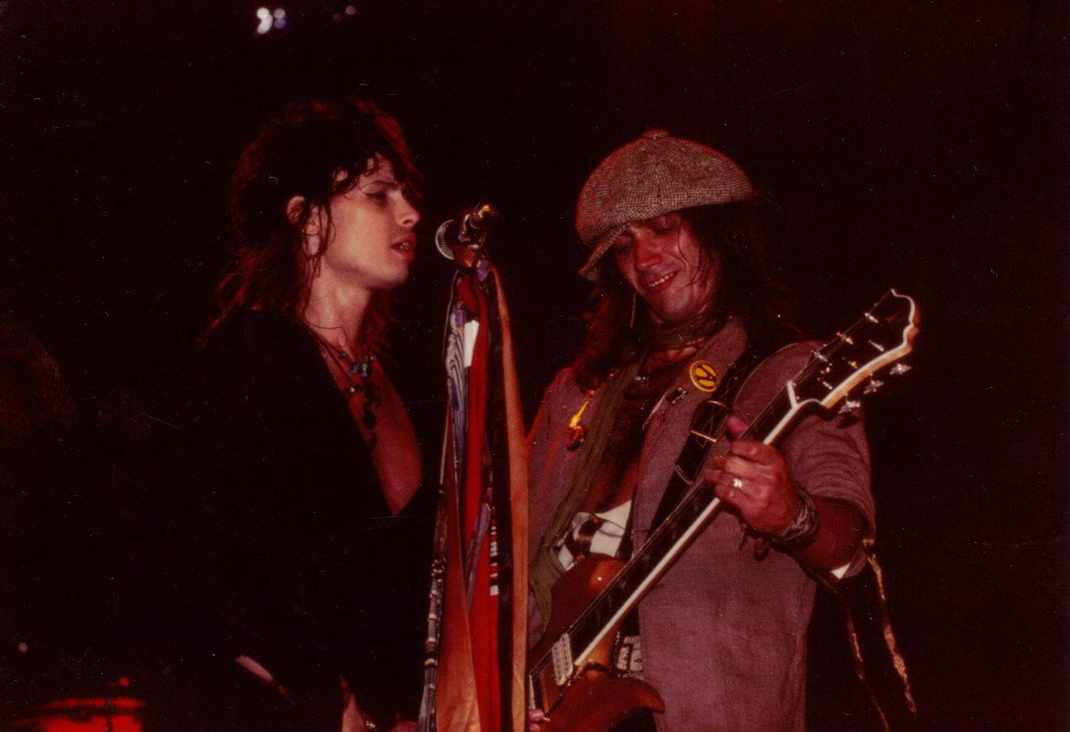 Jimmy Crespo and Steven Tyler - January 16, 1983 Las Vegas Convention Center, Las Vegas (NV)
