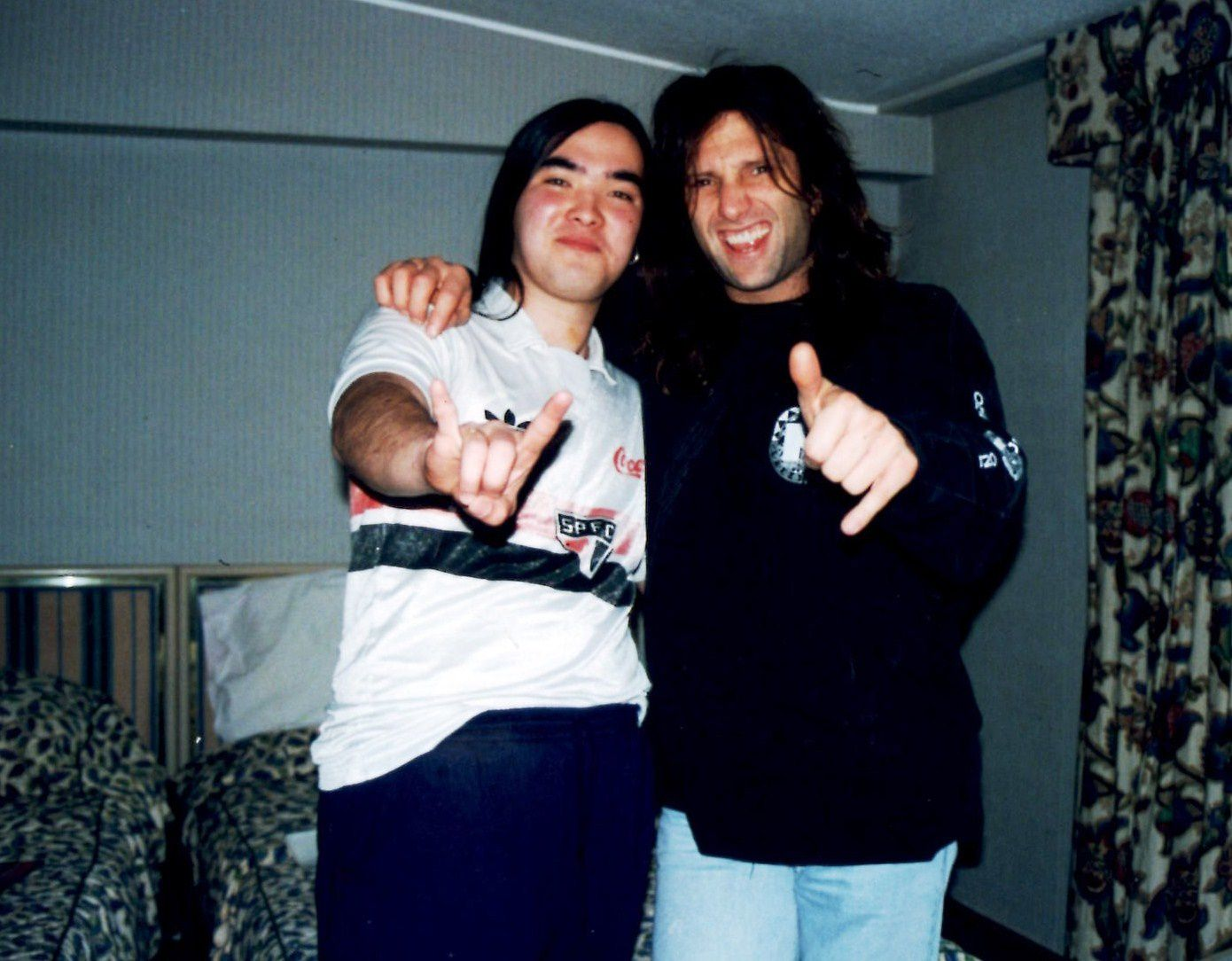 Rob Affuso (Skid Row) and fan in London