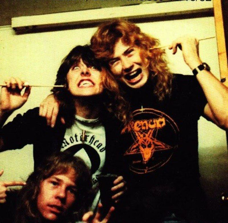 Lars Ulrich, James Hetfield and Dave Mustaine - Metallica, the early years