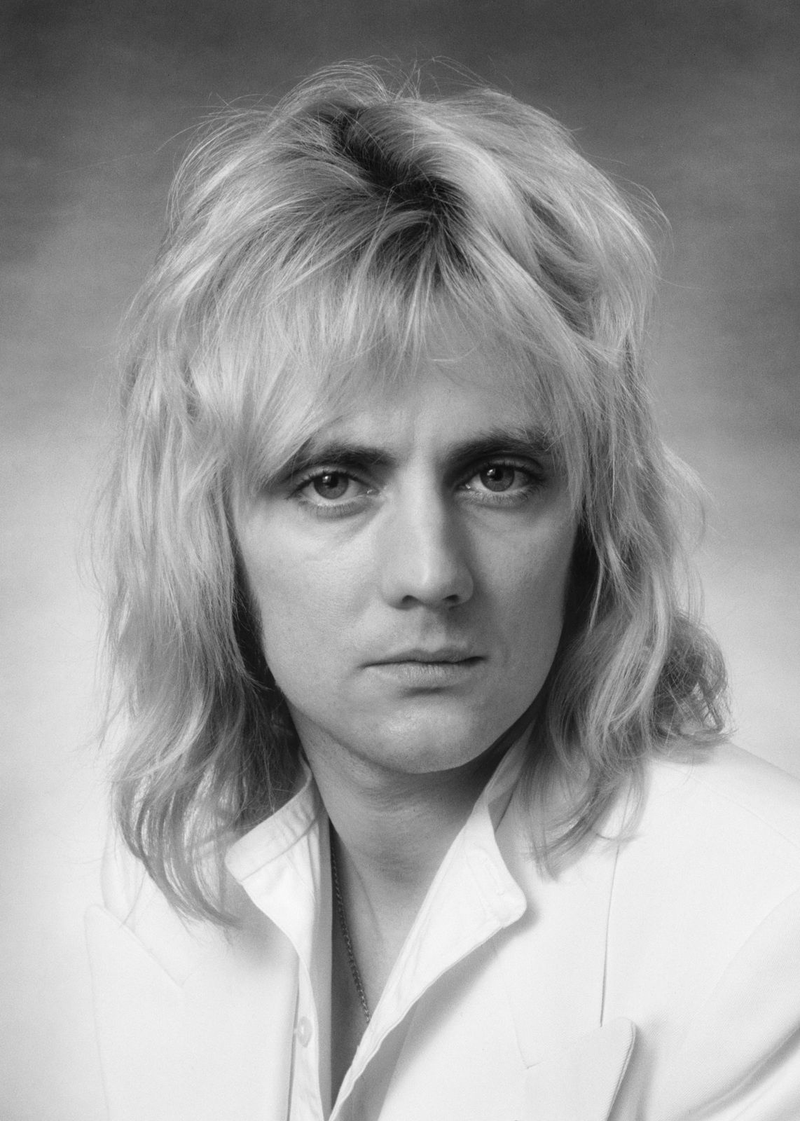 Roger Taylor (Queen) - photographed in the Studio on 28th October 1976. (Photo by Lichfield/Getty Images)