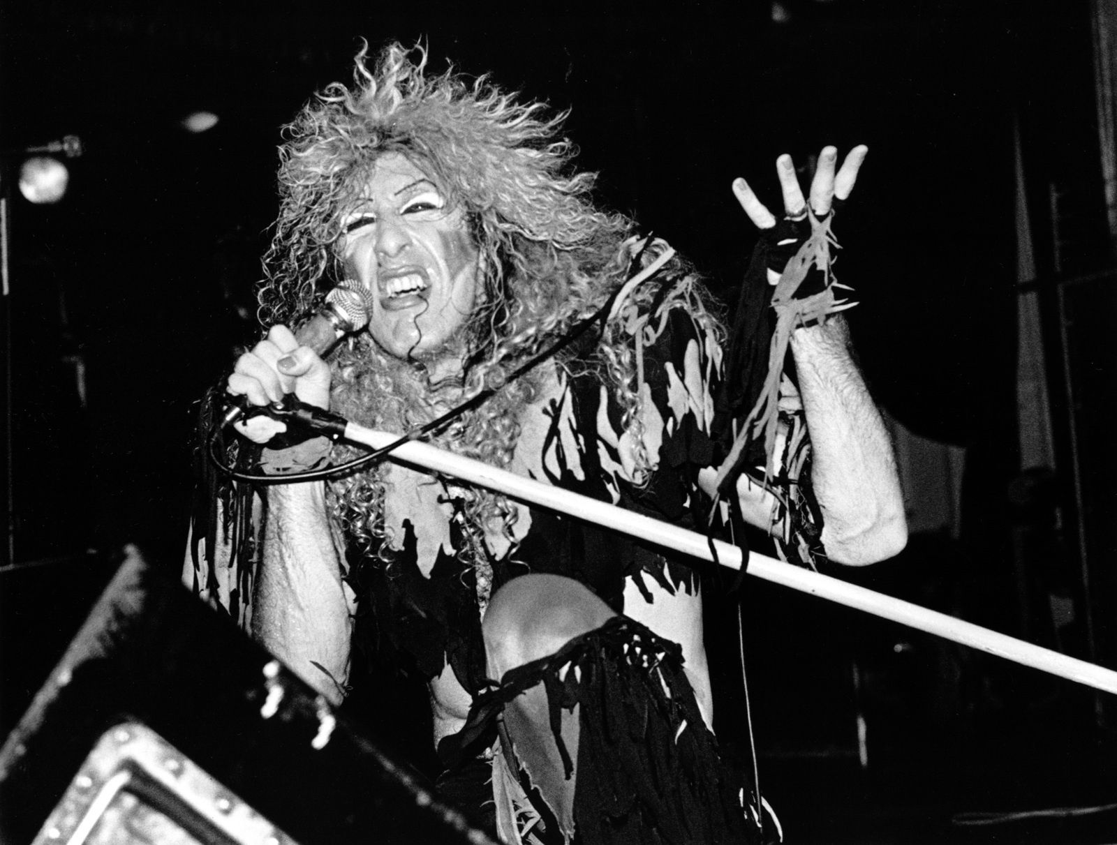 Dee Snider - 1984 - Twisted Sister frontman got down with his mic during a concert - Getty Images