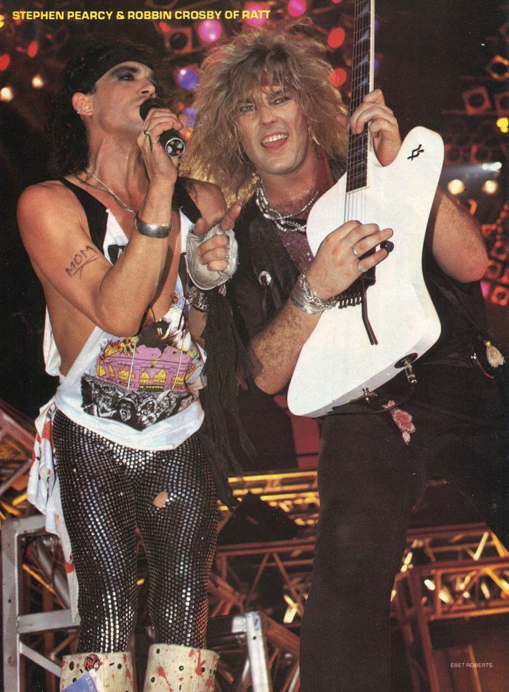 Robbin Crosby and Stephen Pearcy, RATT