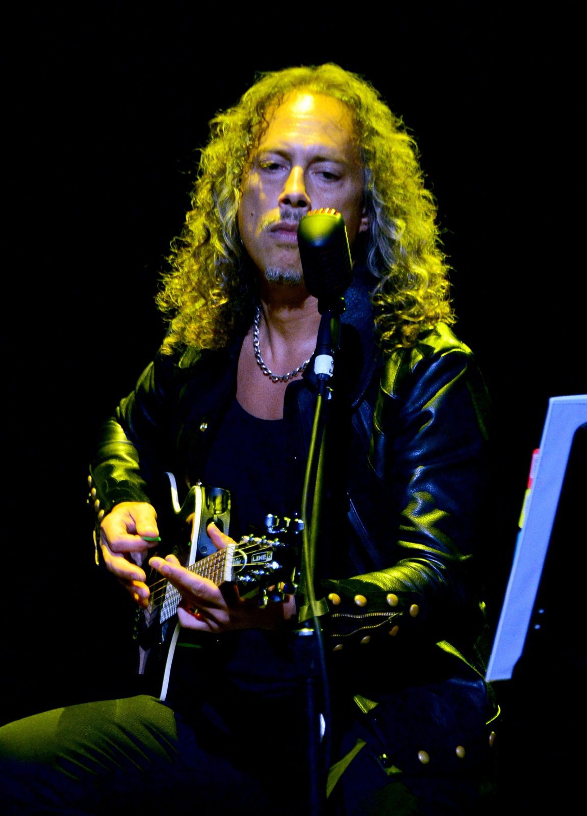 Kirk Hammett of Metallica performs onstage at the 10th annual MusiCares MAP Fund Benefit Concert at Club Nokia on May 12, 2014 in Los Angeles, California. (Photo by Frazer Harrison/Getty Images)