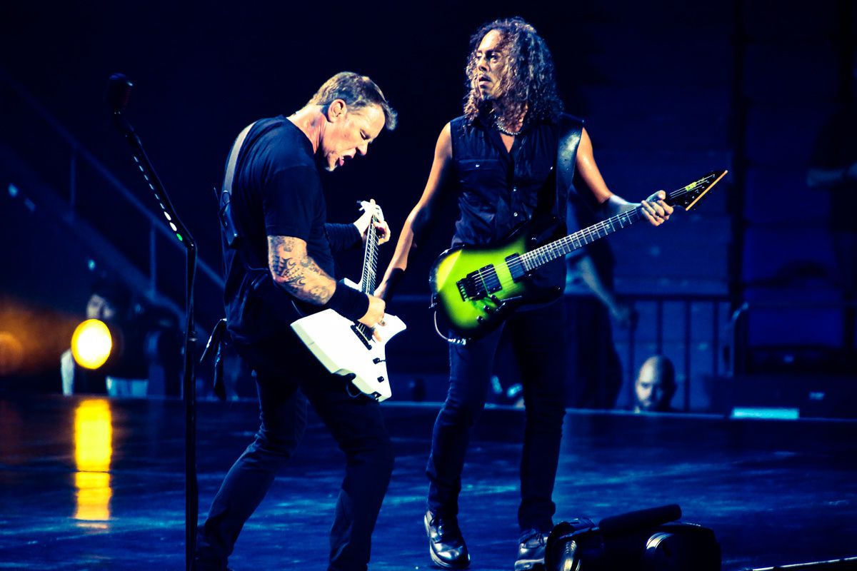 Kirk Hammett and James Hetfield, Metallica (2013)
