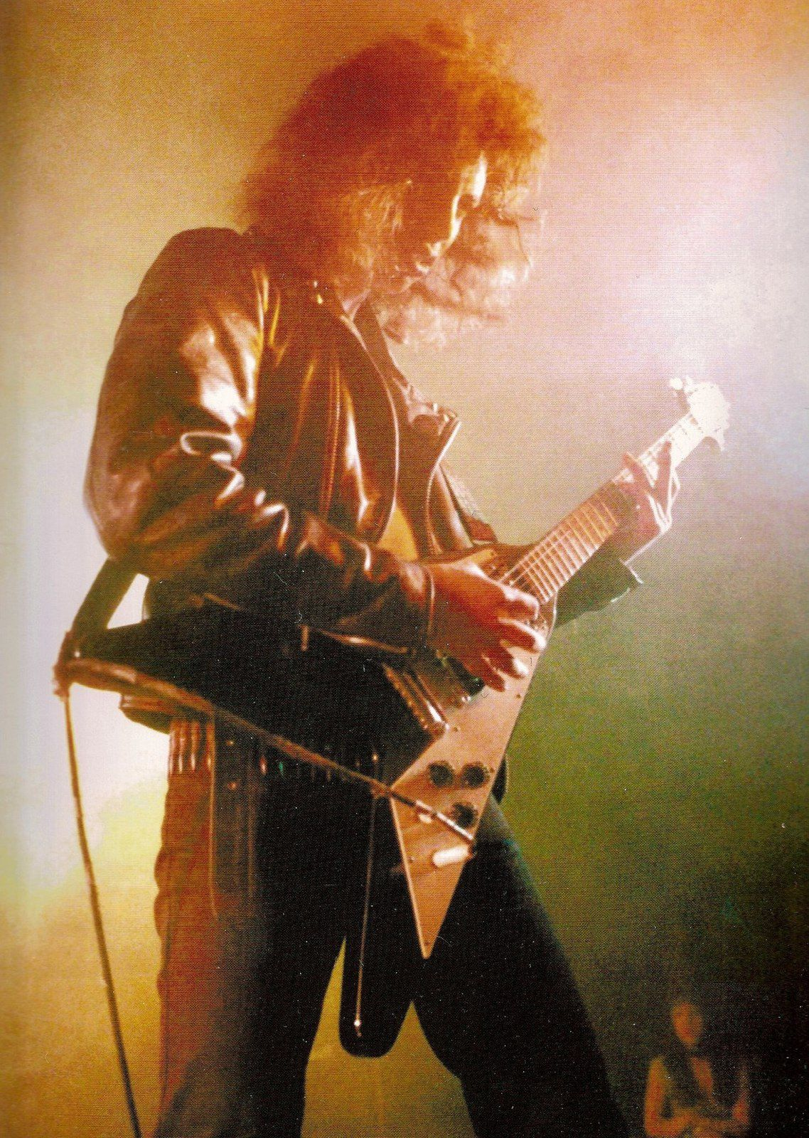 Kirk Hammett, Metallica - The Showplace, Dover, New Jersey, April 16,1983.  Photo By Frank White