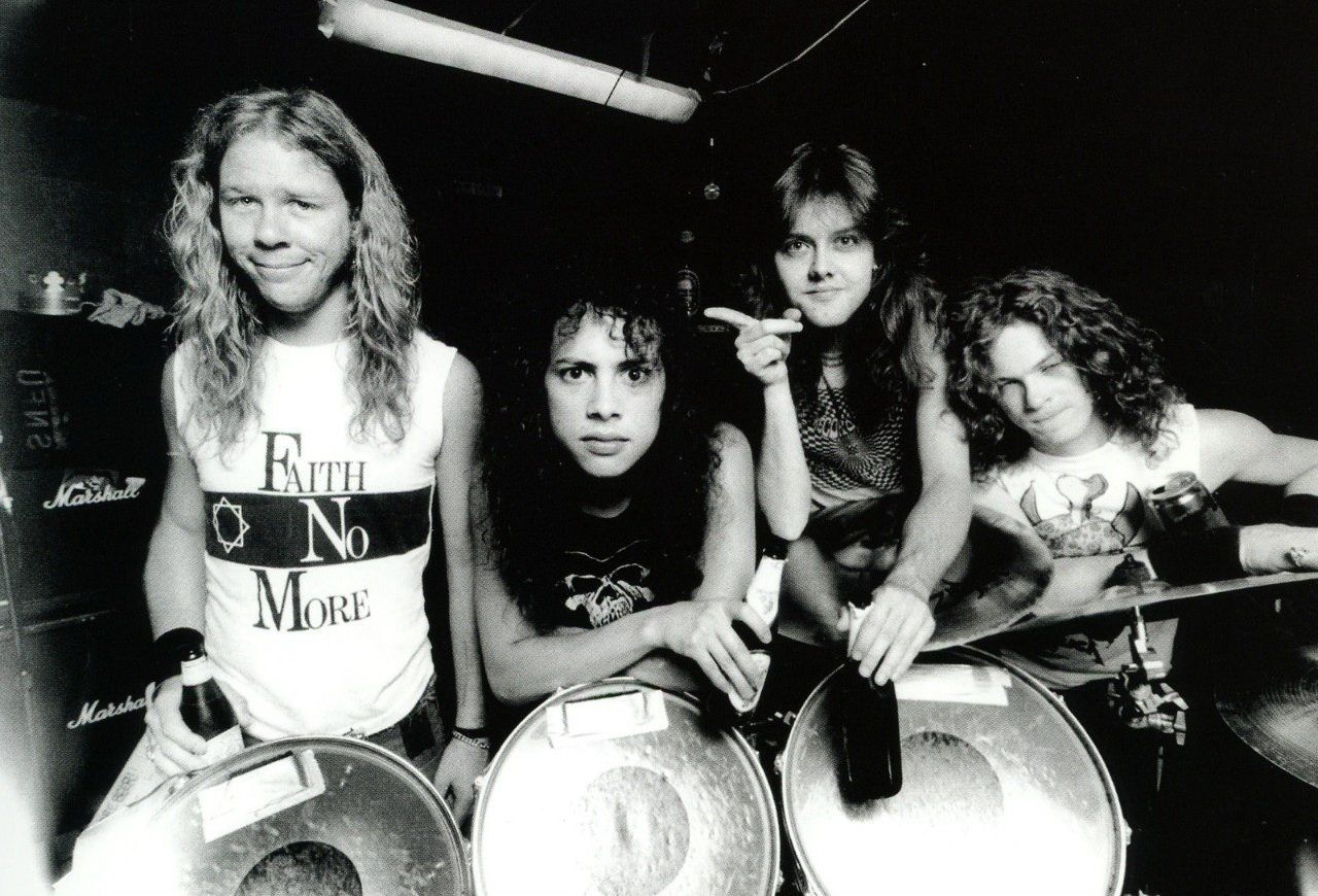 Kirk Hammett, Lars Ulrich, James Hetfield and Jason Newsted (Metallica)