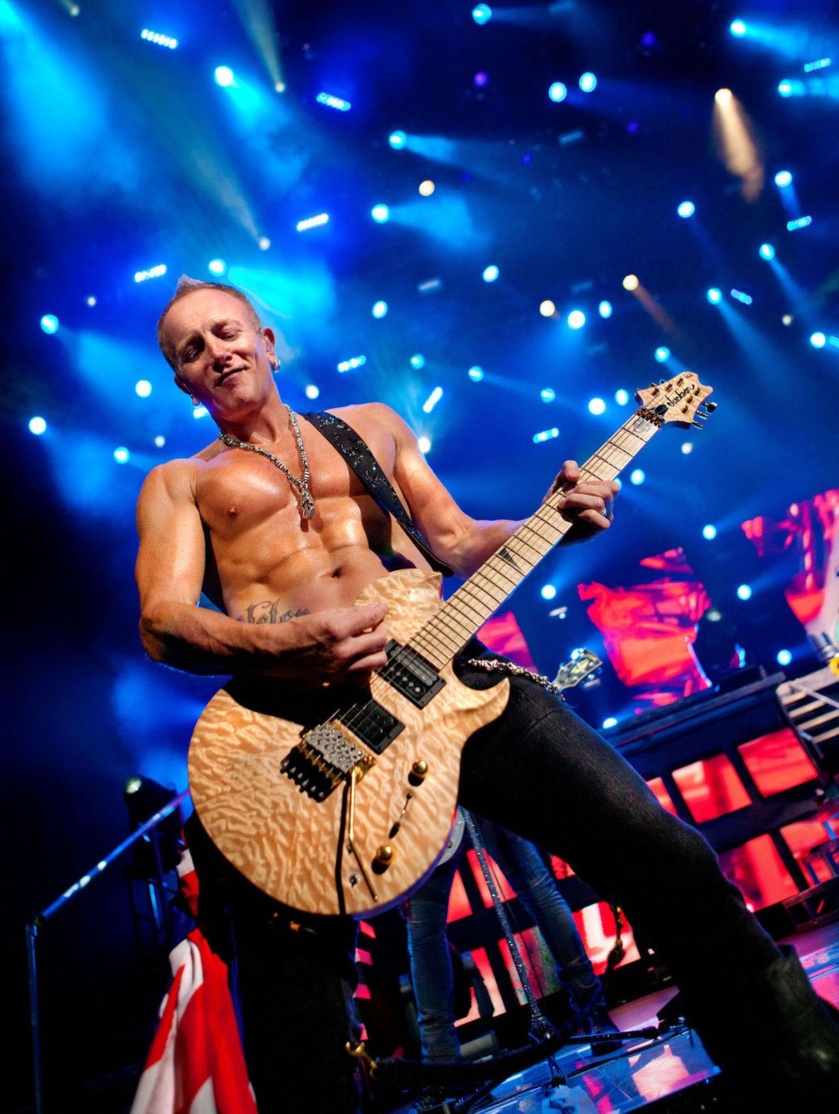Phil Collen, co-lead guitarist for English rock band Def Leppard (2012)
