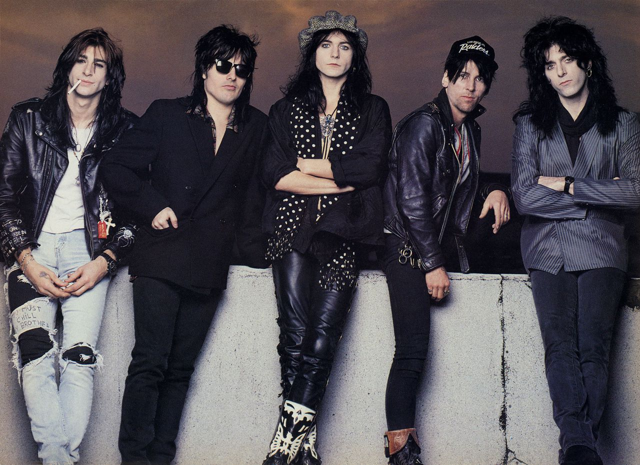L.A. Guns: Kelly Nickles, Mick Cripps, Phil Lewis, Tracii Guns and Steve Riley