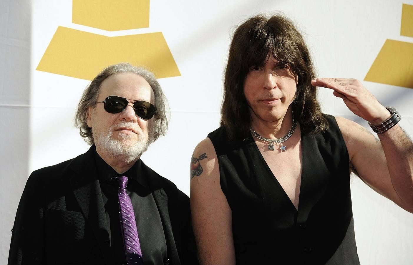 Tommy Ramone (Left) and Marky Ramone attend the Recording Academy Special Merit Awards Ceremony in Los Angeles in this February 12, 2011 - credit: REUTERS/Phil McCarten