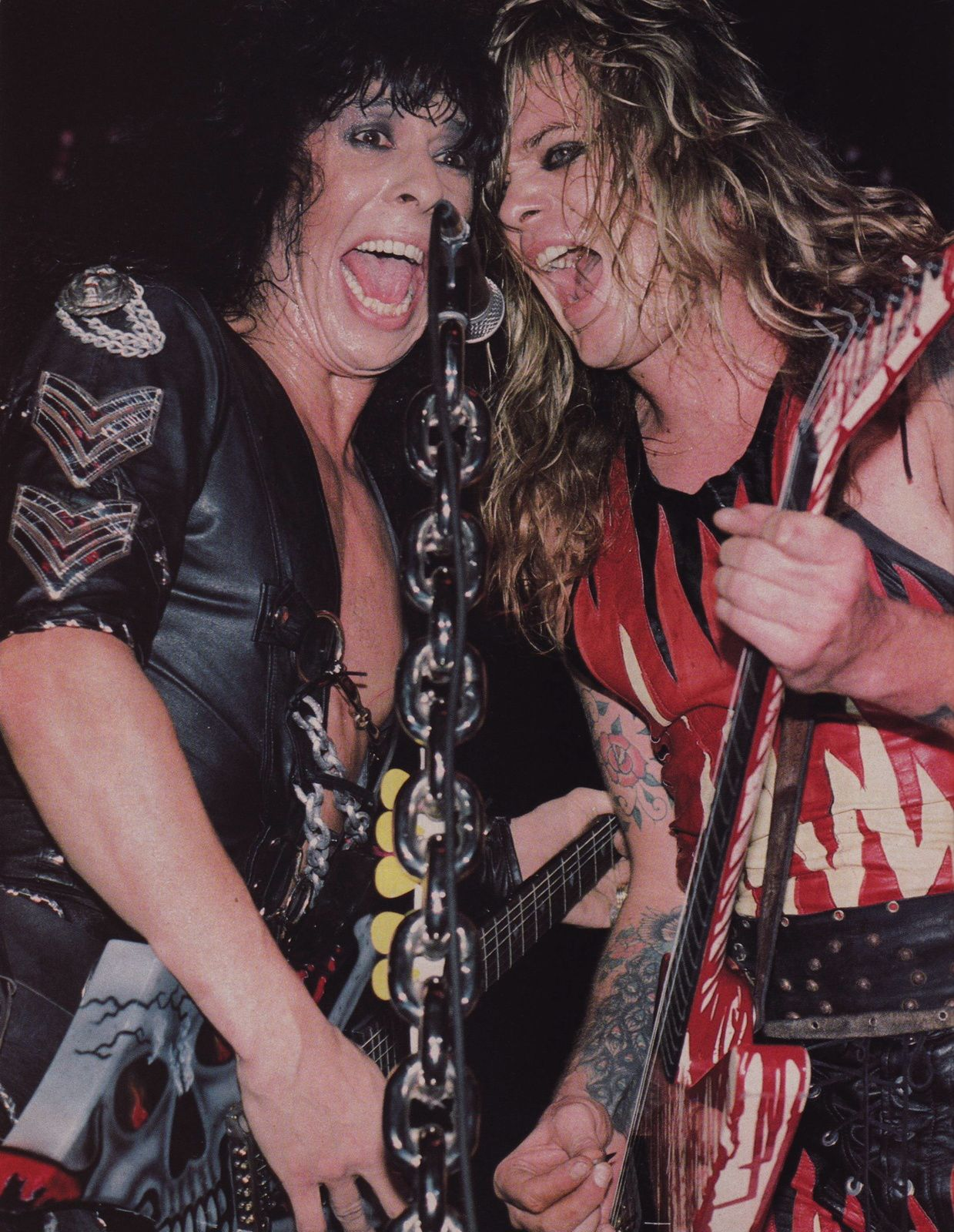 Randy Piper and Chris Holmes (W.A.S.P.)