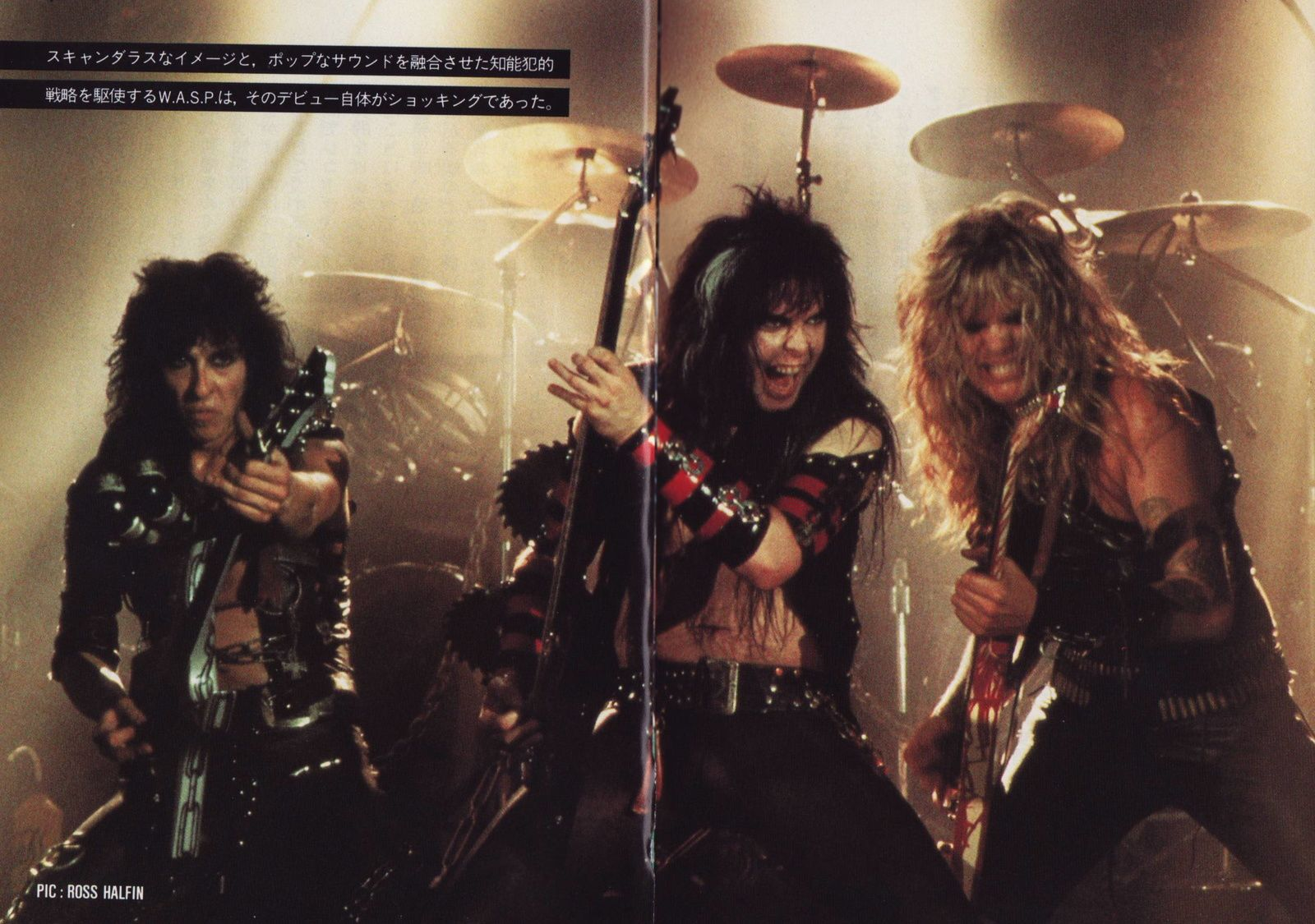 Randy Piper, Blackie Lawless and Chris Holmes (W.A.S.P.)