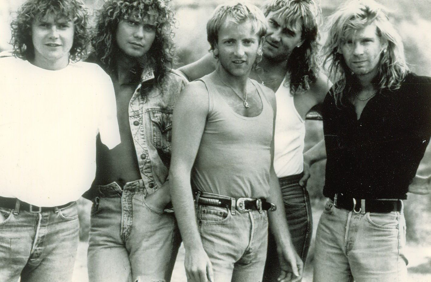 Rick Allen, Steve Clark, Joe Elliott, Phil Collen and Rick Savage (Def Leppard)