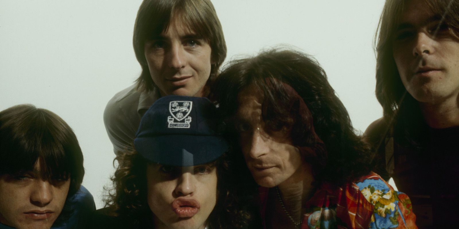 Angus and Malcolm Youg, Phil Rudd, Bon Scott and Cliff Williams, AC/DC