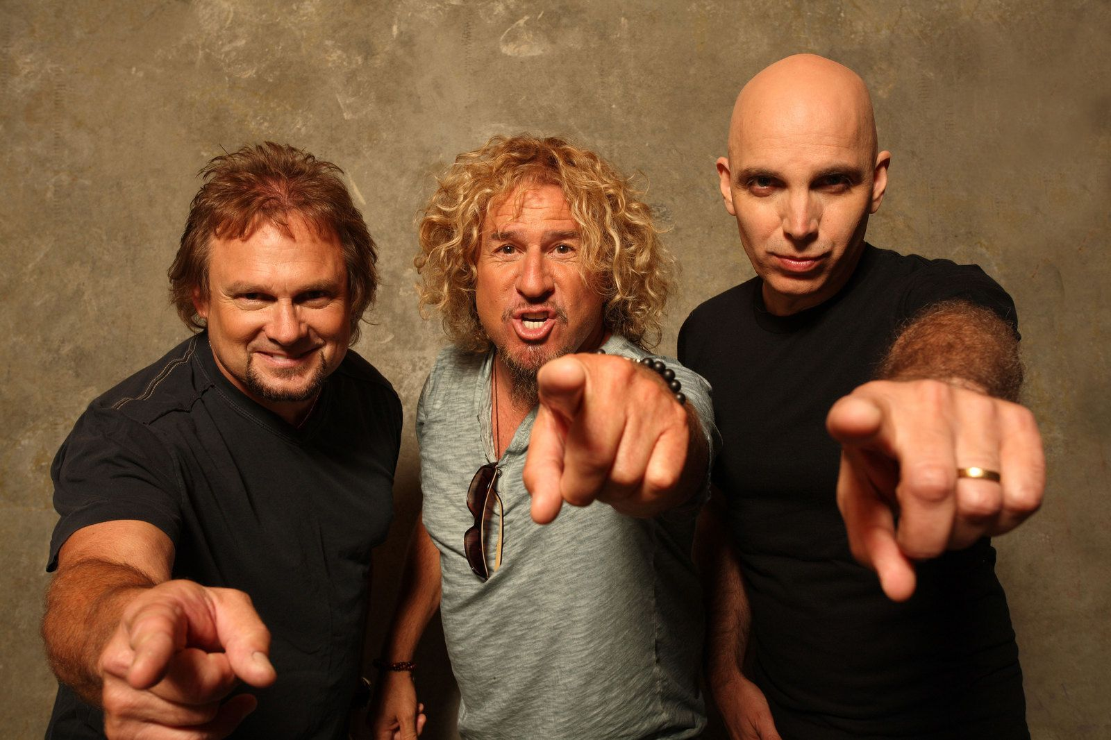 Sammy Hagar, Joe Satriani and Michael Anthony (Chickenfoot) - credit: Neil Zlozower
