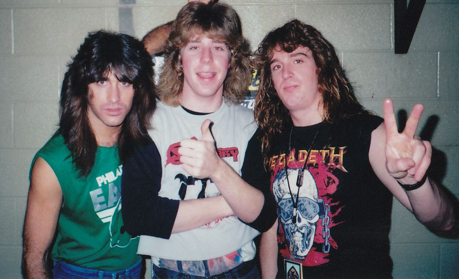 David Ellefson, Jeff Young and ? (1988)