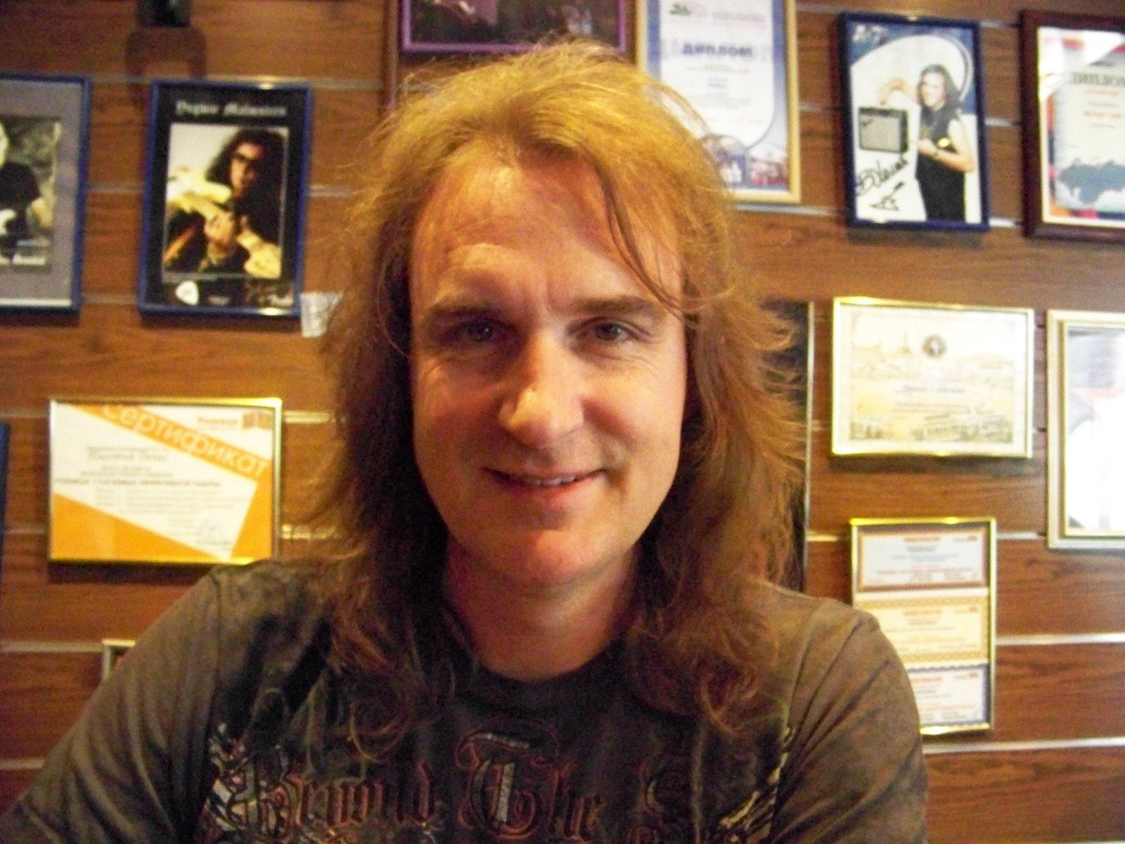 David Ellefson, bassist and founding member of the American thrash metal band Megadeth (Kiev, 2007)