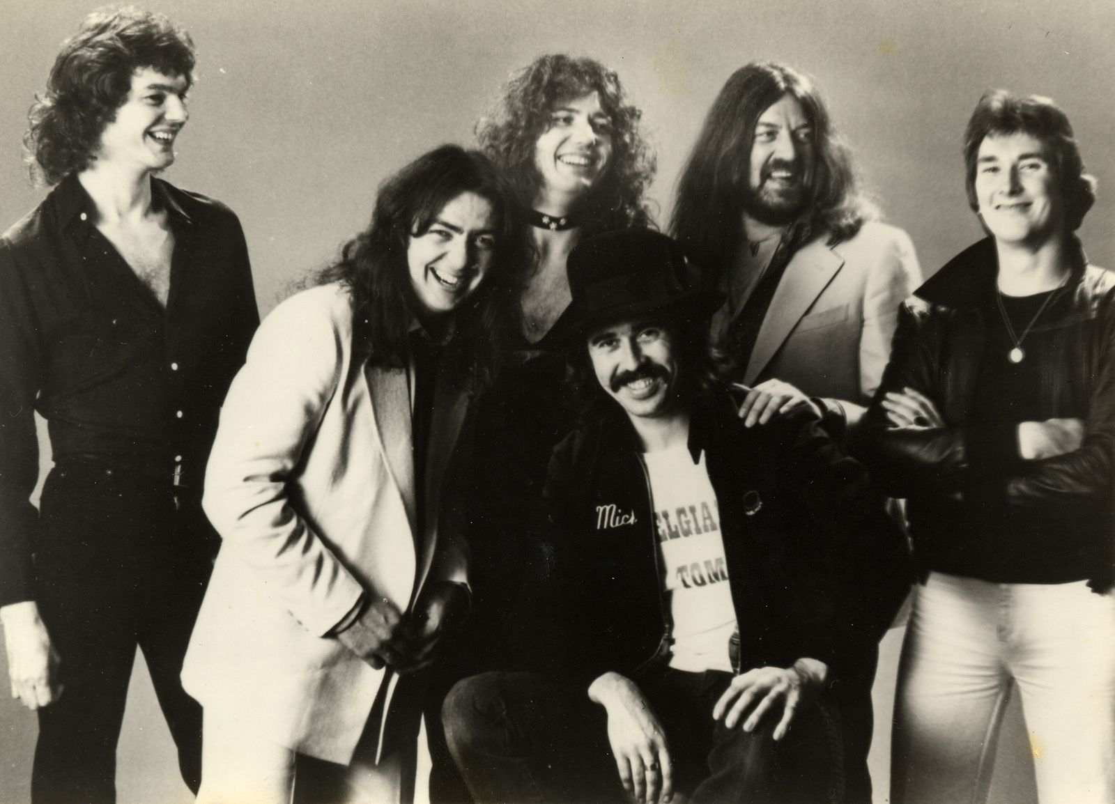 Jon Lord, Neil Murray, Bernie Madsen, David Coverdale, Micky Moody and Dave Doody (Whitesnake, 1978)