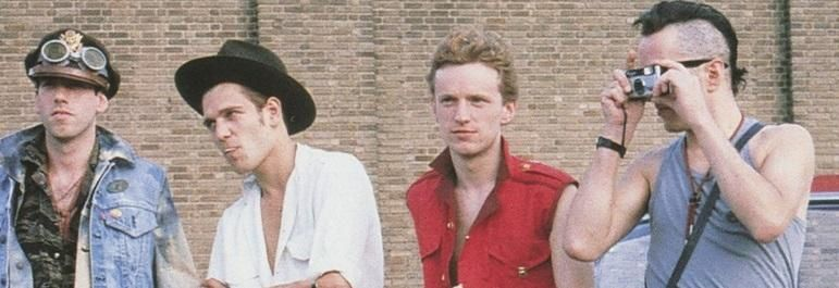 Terry Chimes (in red shirt) with The Clash