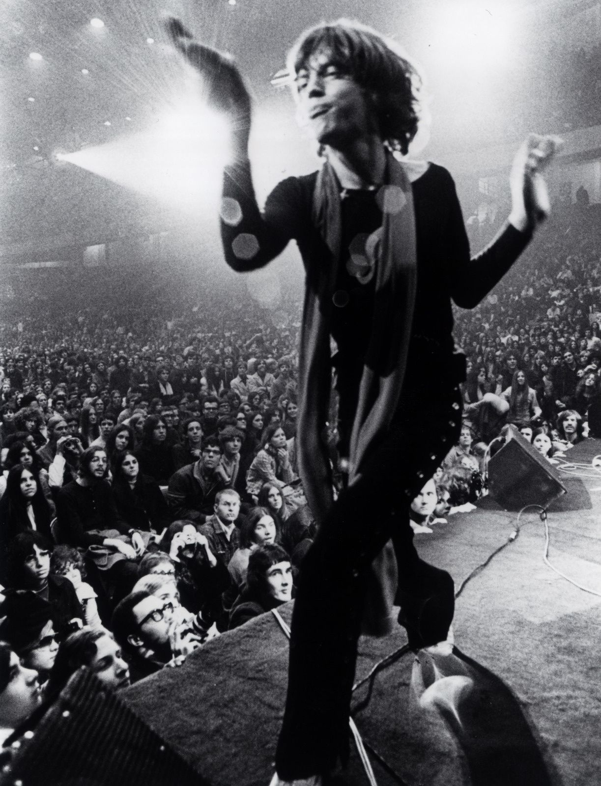 "Altamont Speedway Free Festival, the free concert headlined by the Rolling Stones on December 6, 1969 that ended with the fatal stabbing of an 18-year-old black man named Meredith Hunter   by a member of the Hells Angels - from the film ""GIMME SHELTER."" Courtesy of the Criterion Collection"