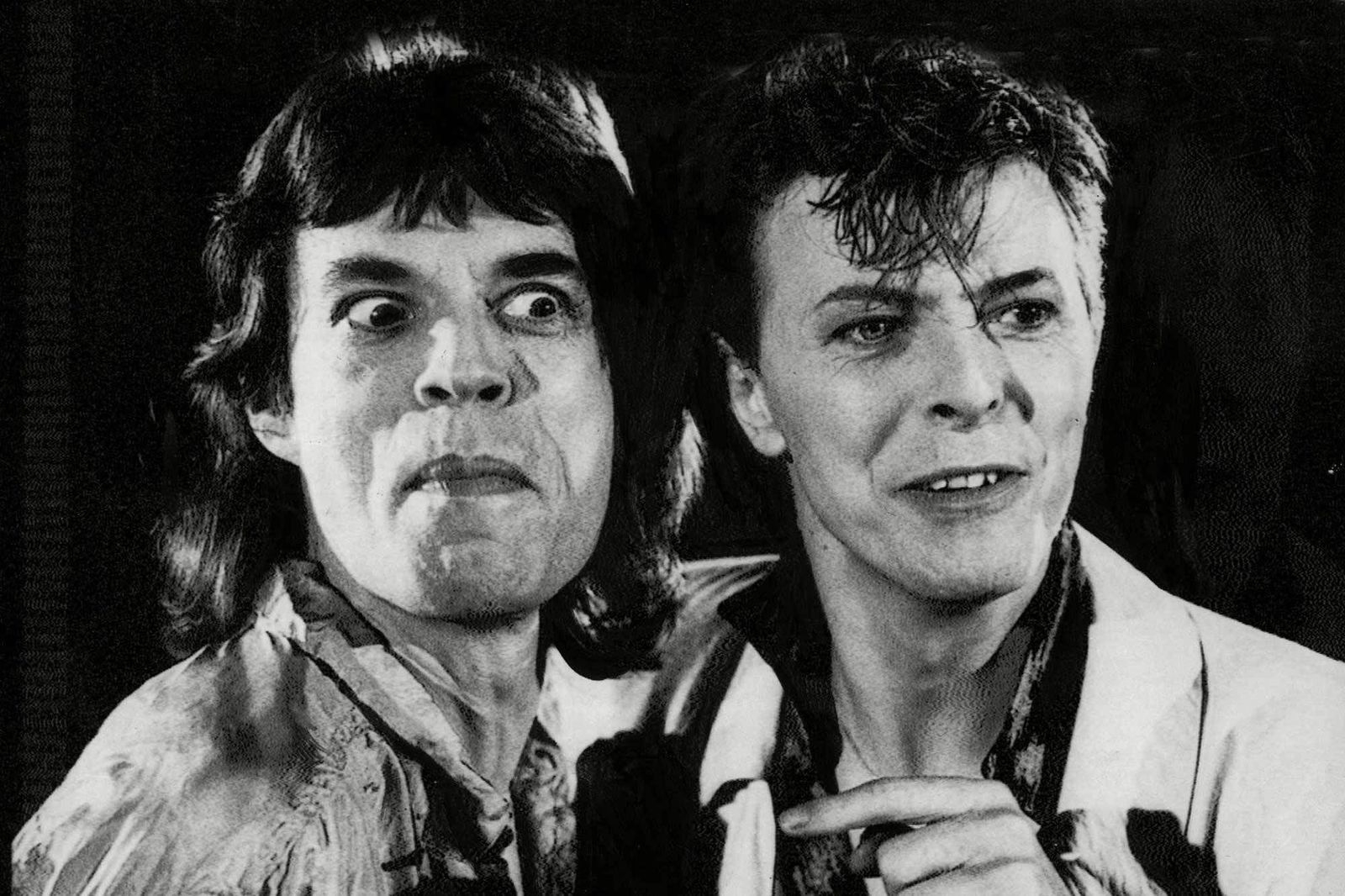 Mick Jagger and David Bowie in the nineteen eighties - News Ltd Newspix/REX/SIPA