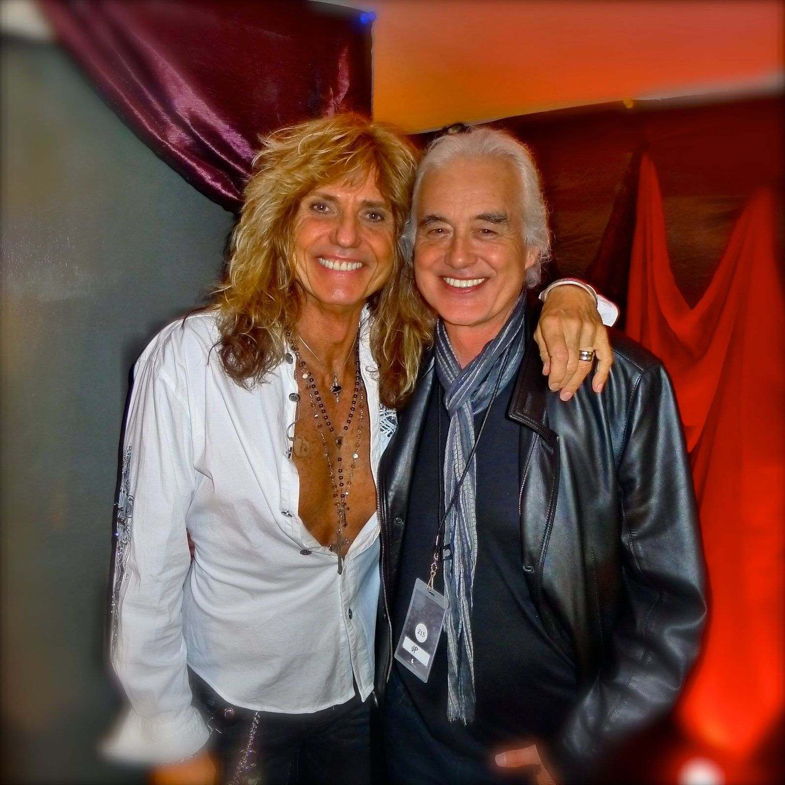 David Coverdale and Jimmy Page