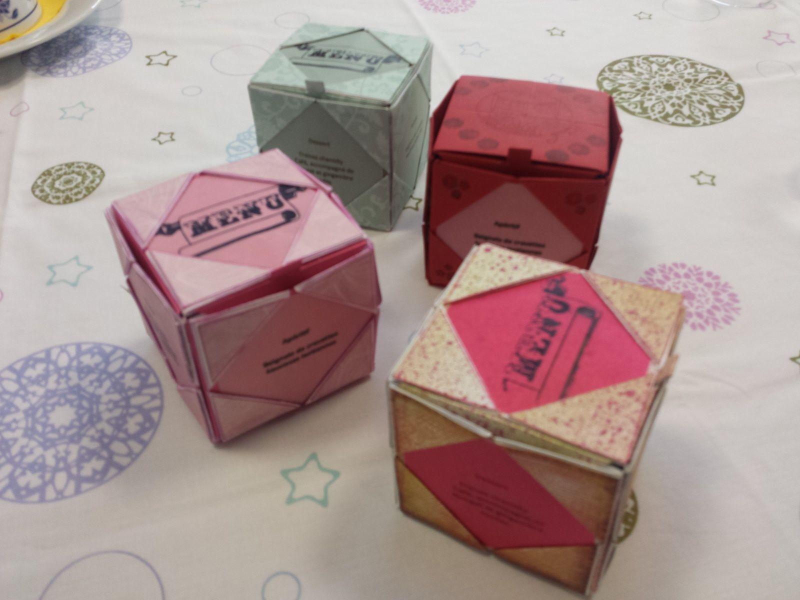 "Cubes ""menu"""