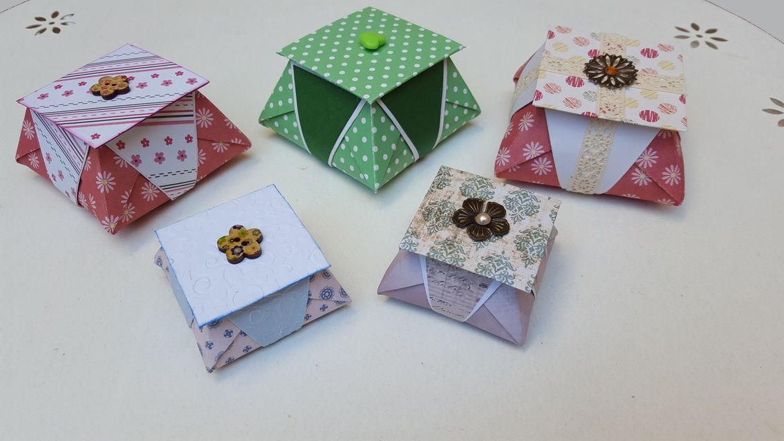 Boîtes en origami