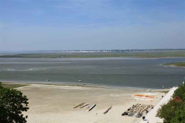 Panorama sur la plage et la baie de Somme depuis les tours Guillaume