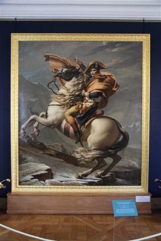 Jacques-Louis David (1748-1825) : Bonaparte franchissant les Alpes au col du grand Saint-Bernard
