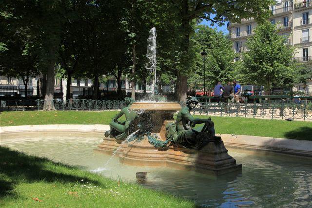 Fontaines, bassins et jets d'eau du 3ème arrondissement de Paris
