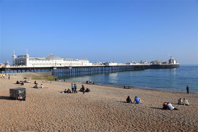 Le Brighton Pier et la plage