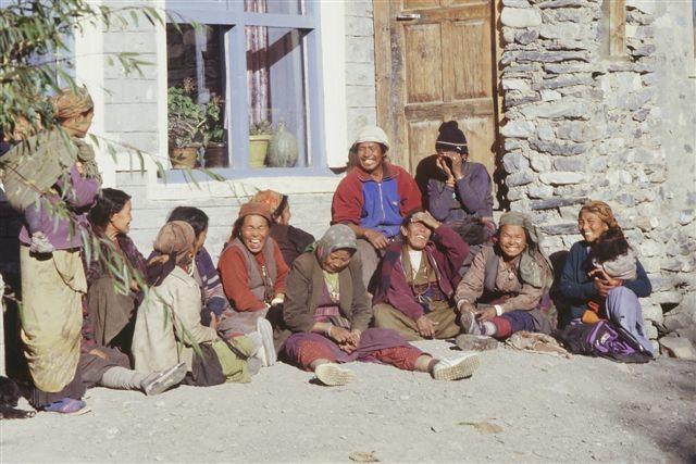 Groupe de femmes à Kagbeni