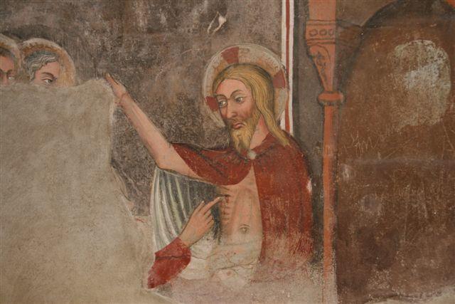 Saint-Thomas touche la plaie du Christ