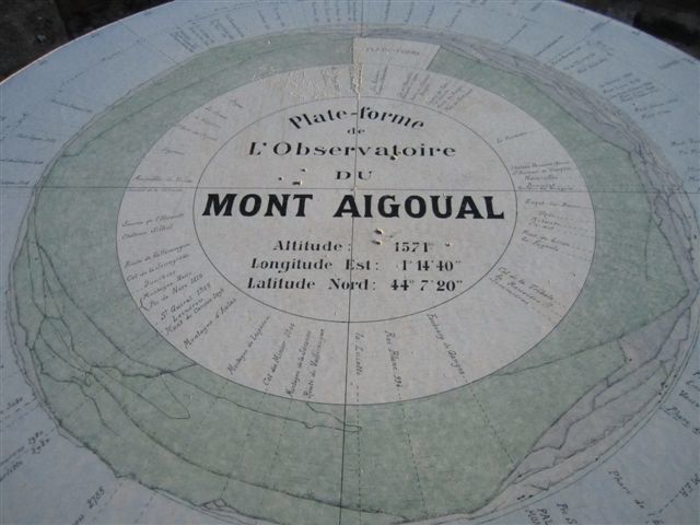 Table orientation du Mont Aigoual