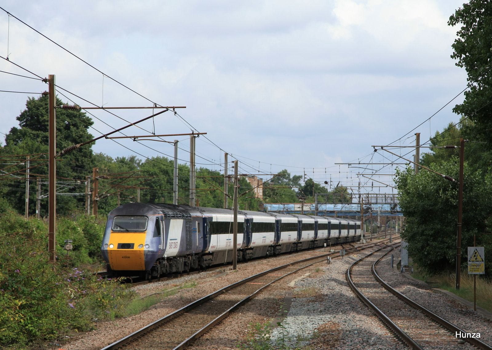 Rame Intercity 125 de la compagnie East Coast près de Finnsbury Park