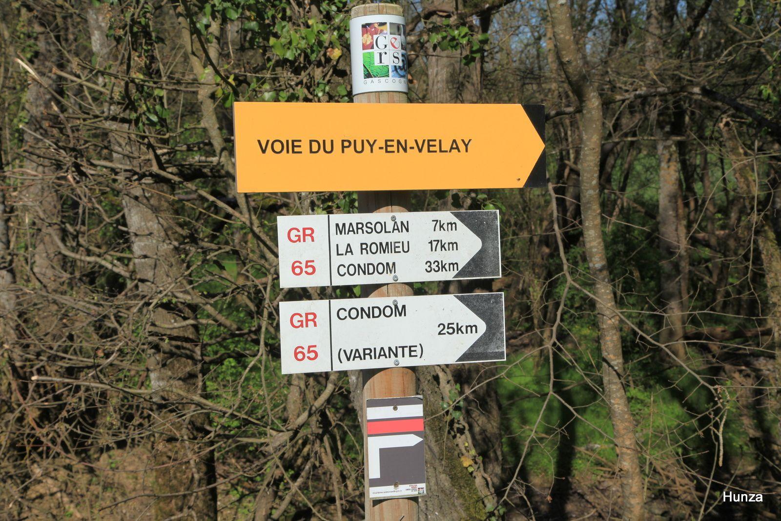 Le GR 65 et la traversée du Gers de Lectoure à Nogaro