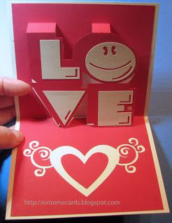 Kirigami gratuit Love smiley