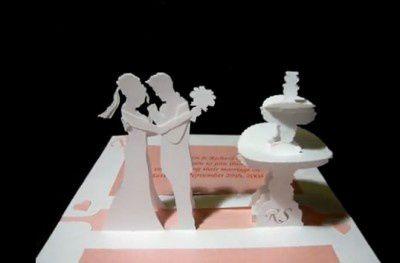 Kirigami gratuit couple de mariés
