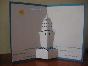 Gabarit gratuit kirigami bateau