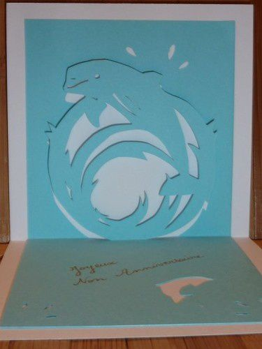 Gabarit gratuit kirigami dauphin
