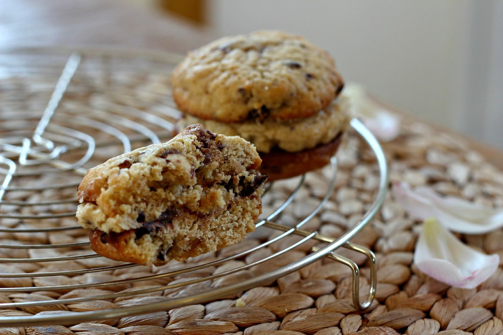 Cookie dough sandwich cookies
