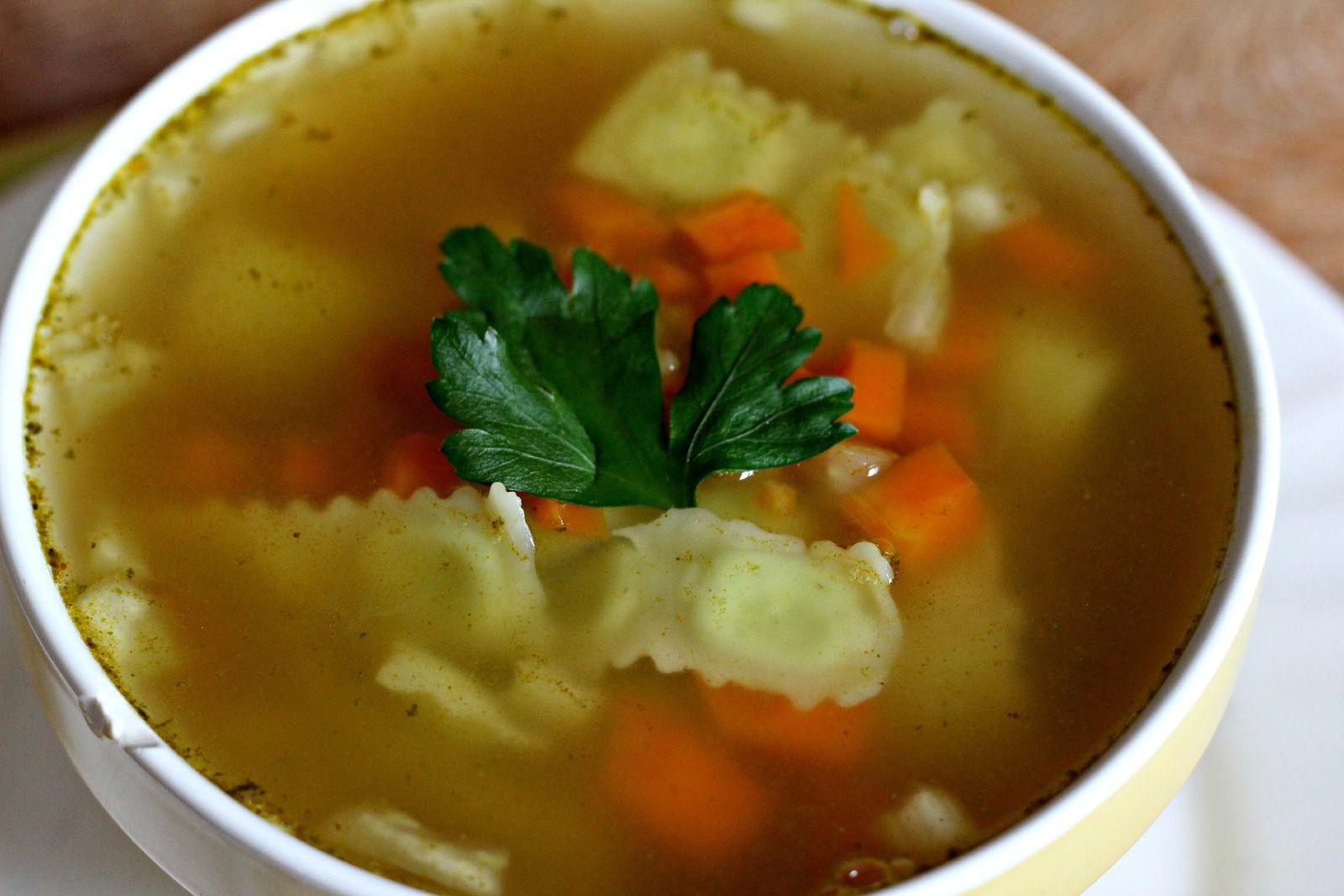 Ravioles du Dauphiné en bouillon de légumes
