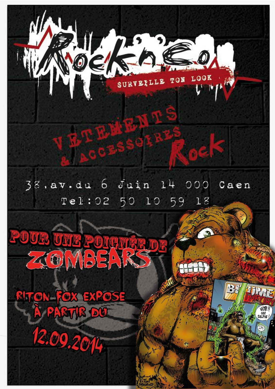 affiche expo zombears