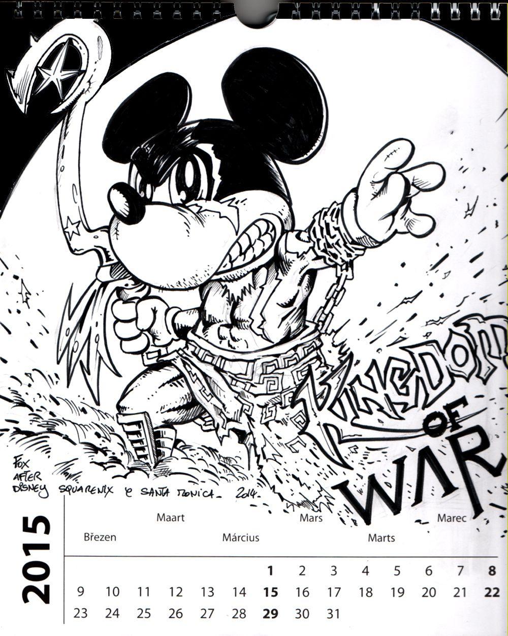 calendrier 2015 mars (kingdom of war) noir et blanc