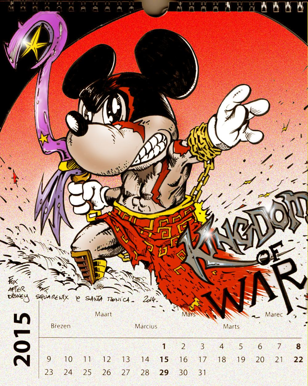 calendrier colo mars (kingdom of war )