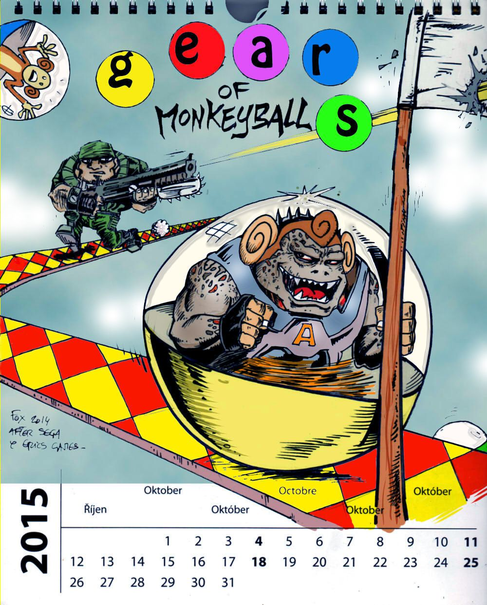 calendrier octobre (gears of monkeyball ) colo