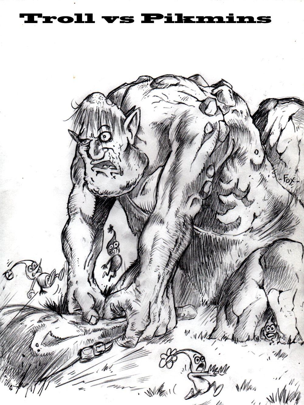 Troll vs Pikmins