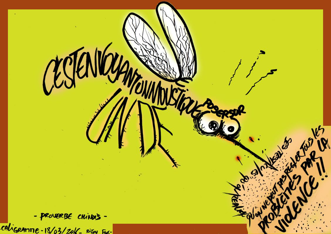 caligramme mosquito